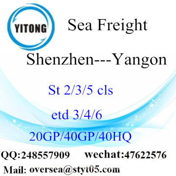 Shenzhen Port Sea Freight Shipping To Yangon