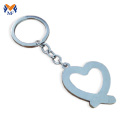 Metal half heart keychain for couples