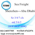 Shenzhen Port Sea Freight Shipping To Abu Dhabi