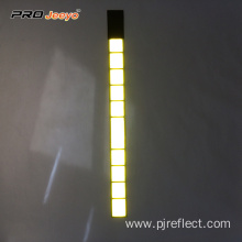 Reflective Crystal Lattice Yellow PVC Velcro Armband