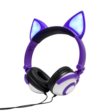 Cute Animal Design Soft Plush Crianças Headphone