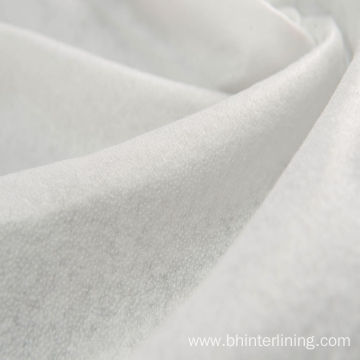 Thermal bonding smooth and soft fusible nylon interlining