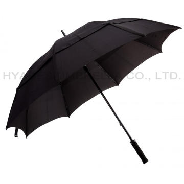 60 Inch OEM Black Ventilation Windproof Golf Umbrella