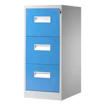 Sky Blue 3 Drawer File Cabinet
