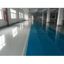 Factory high strength epoxy self-flowing flat paint