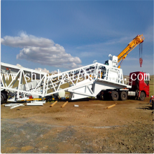 factory low price Used for Removable Concrete Plant 75 Wet Mobile Concrete Batching Plant export to Faroe Islands Factory