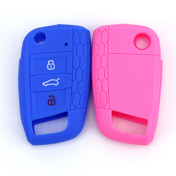 Ny design Honeycomb 3 Knappar Car Key Cover