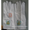High Quality White Nylon Masonic Glove