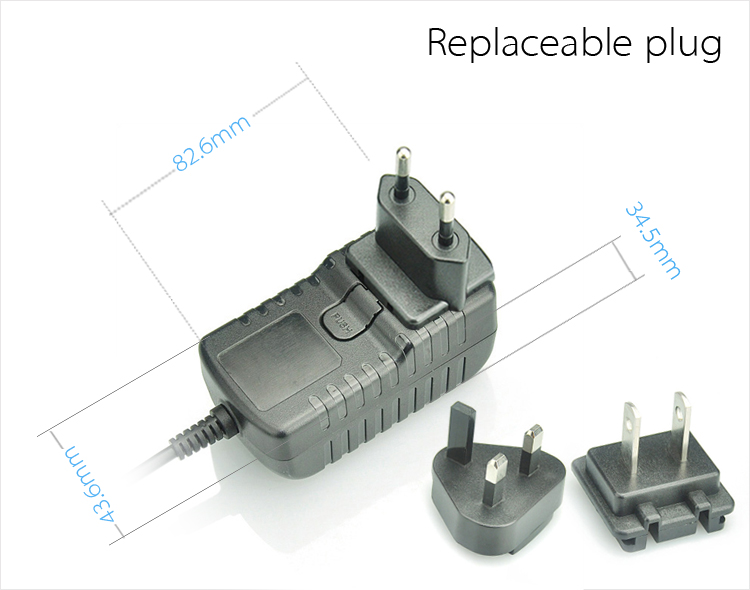 18W Interchangeable Type AC Adapter