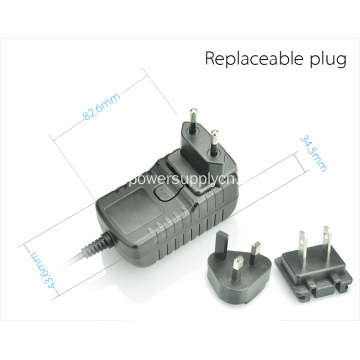 Interchangeable Type Wall Charger Adapter 18V500MA