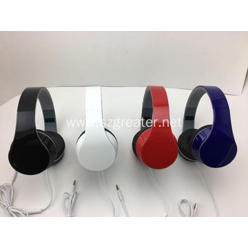 Wired headphone with Mic cheap headset foldable headphone
