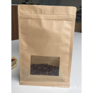 Kraft Paper Dried Food Packaging Bag With Window