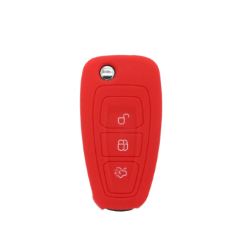 Logo Focus 3 buttons silicone key case