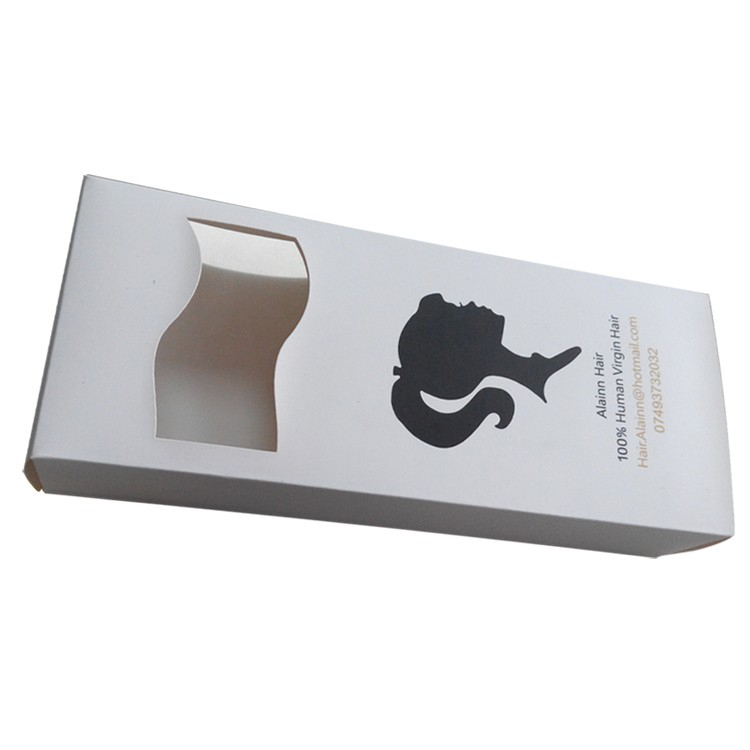 Custom White Paper Hair Packaging Boxes