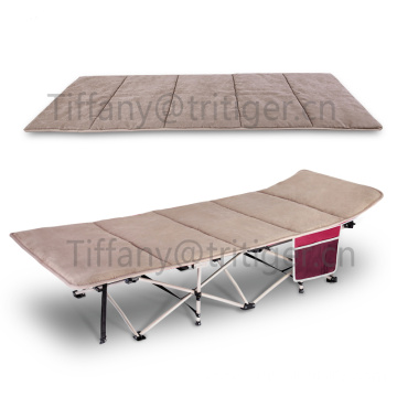 China for Portable Folding Bed Hot selling suede mat camping folding cots mattress supply to Mexico Wholesale