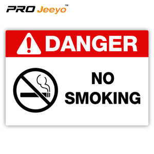 no smoking warning plastic board signs