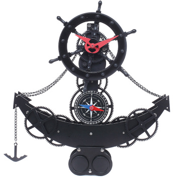 Anchor shape gear desktop clock