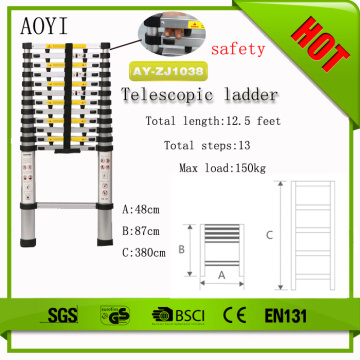 EN131-6 aluminum telescopic ladder