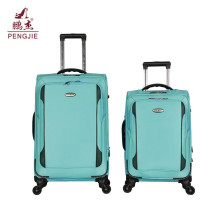 Simple style zipper pocket spinner wheels trolley luggage