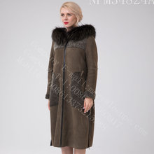 Australia Merino Shearling Long Coat For Women