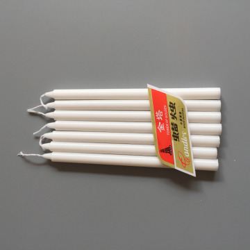 Dark Lighting White Stick Household Taper Candles