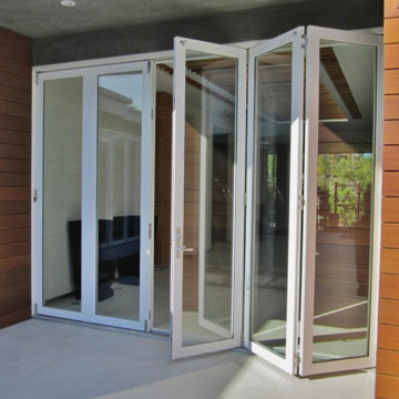 Lingyin Construction Materials Ltd Good price aluminium tempered glass bifold folding door aluminum bi folding door