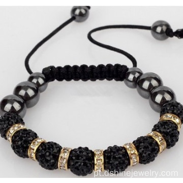 Crystal Clay Beads pulseira pulseira de Shamballa Real Original
