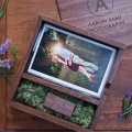 Wedding memory gift box with USB flash drive