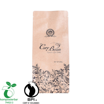 Factory Supply Biodegradable Coffee Bean Packaging Bags with Valve And Ziplock