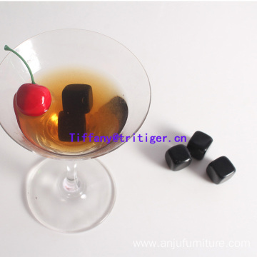 Wholesale 20mm Whisky stones Obsidian cube rocks black whisky stones