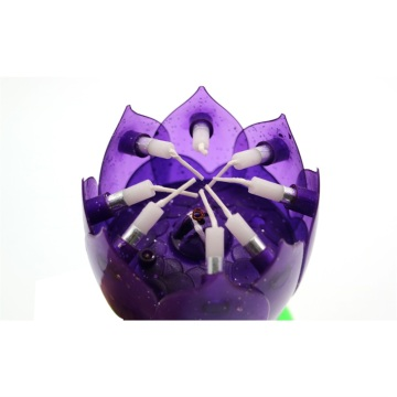 Hot sales Flower Firework Lotus Music Birthday Candle