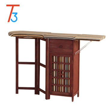 Eco-Friendly cabinet wooden ironing board cover in cabinet