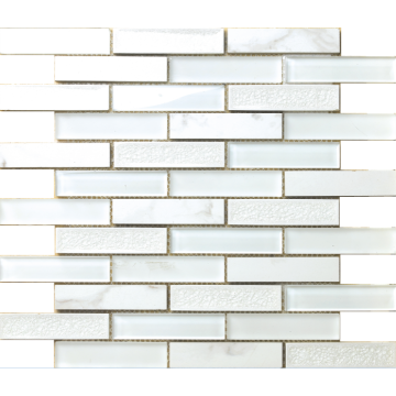 straight line white mosaic