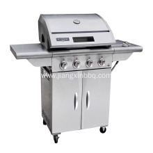Customized for Outdoor Gas Barbecue Grill 4-Burners Stainless Steel Nature Gas BBQ Grill export to France Importers