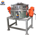 High efficiency single layer rotating vibrating screen