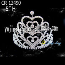 Heart Shape Holiday Pageant Crowns For Sale