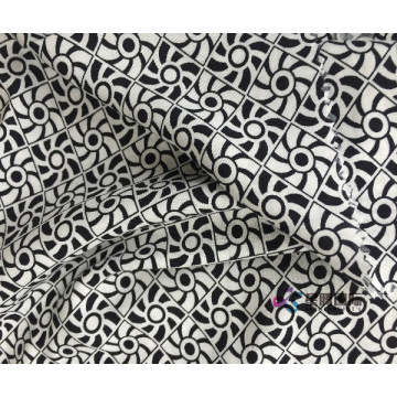 100% Rayon Plain Yarn Dyed Print Woven Fabric