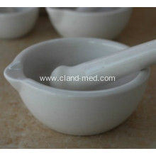 GLAZED PORCELAIN MORTAR AND PESTLE WITH POURING LIP