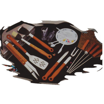 20pcs hardwood handle BBQ tools set