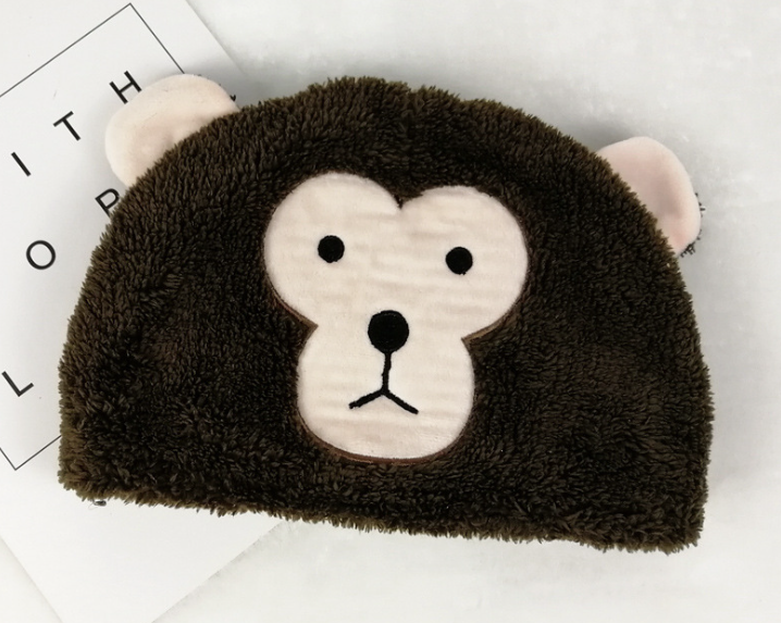 Cute Animal Fleece Hat Monkey