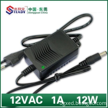 Special Design for Desktop Type Power Adapter 12W Power Supply 12VDC 1A supply to South Korea Wholesale