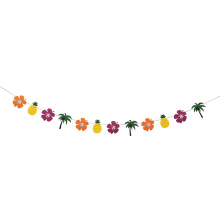 100% Original for Birthday Decoration Items Hawaii summer party bunting flag banner supply to Portugal Manufacturers