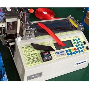 Automatic Satin Ribbon Angle Cutting Machine Hot Knife