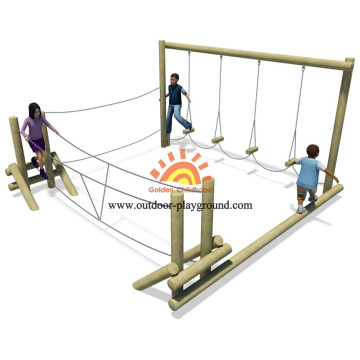 Wooden Balance Park Playground Equipment Play Set