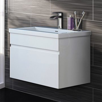 Cheap promotion lacquer door melamine bathroom cabinet