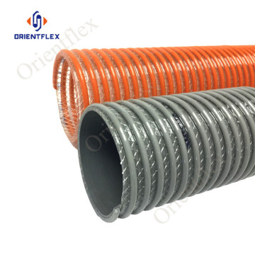 winding ribbed pvc spiral suction pond hose