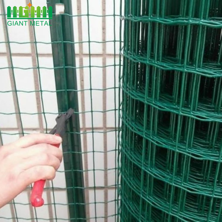 Cheap Square PVC Coated Metal Euro Fence