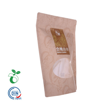 High Quality Zip Kraft Paper Transparent Window Bag