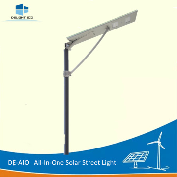 Quality Inspection for China All-In-One Street Light,All In One Solar Street Light,All-In-One Solar Led Street Light Manufacturer and Supplier DELIGHT DE-AIO 100W Bridgelux Chip All-in-one Solar Light supply to China Taiwan Exporter