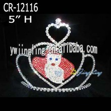 Rhinestone Love Pageant Crown For Adult